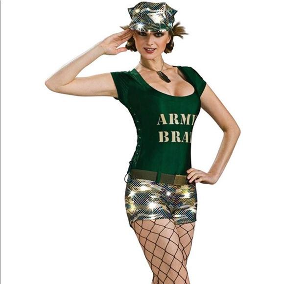 1bec36543f8 Pinup Army Brat Military Womens Hallowen Costume S NWT